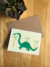 Load image into Gallery viewer, Brontosaurus - Greeting Card