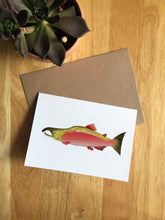 Load image into Gallery viewer, Salmon - Greeting Card