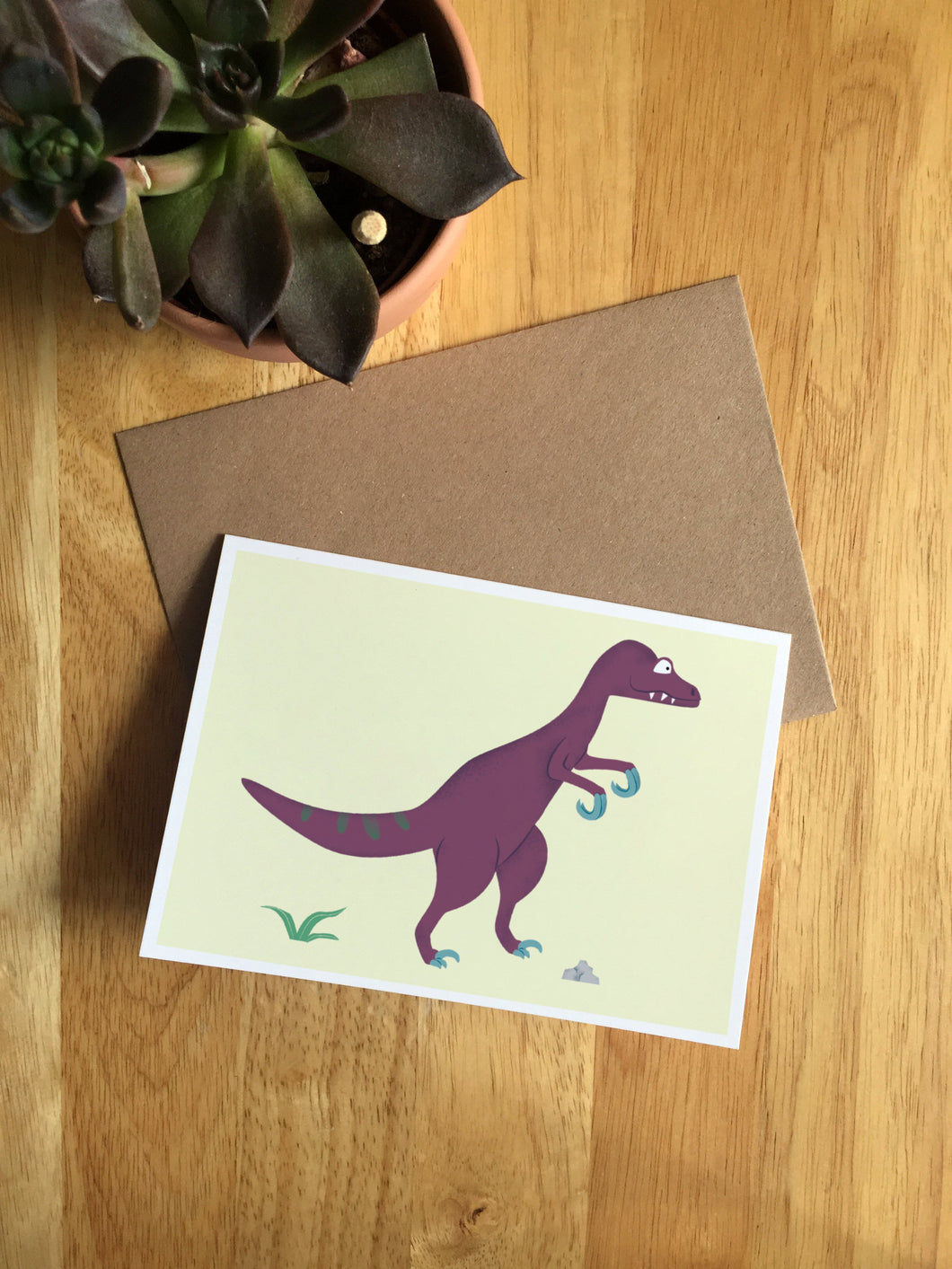 Velociraptor - Greeting Card