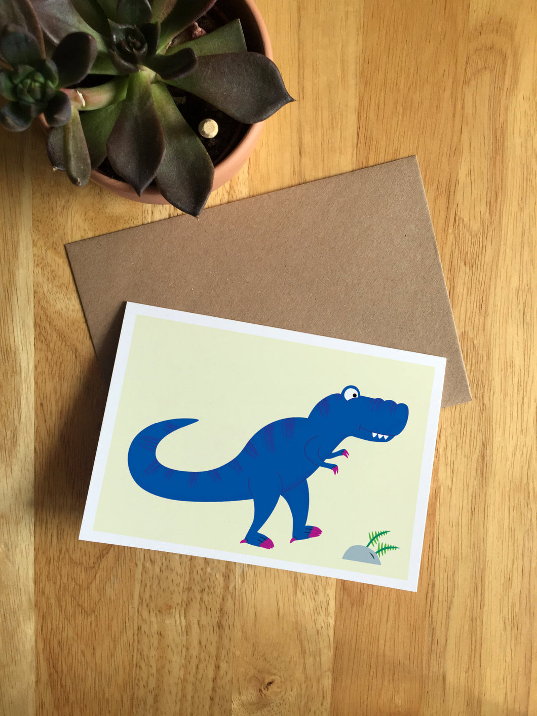 T- Rex - Greetings Card