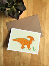 Load image into Gallery viewer, Parasaurolophus - Greeting Card