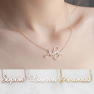 Custom Name Necklace Font 6-10