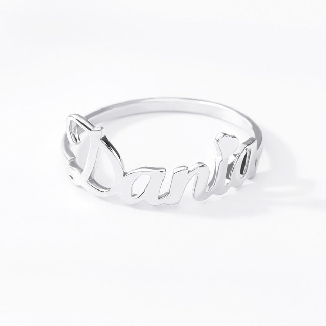 Custom Font Name Ring