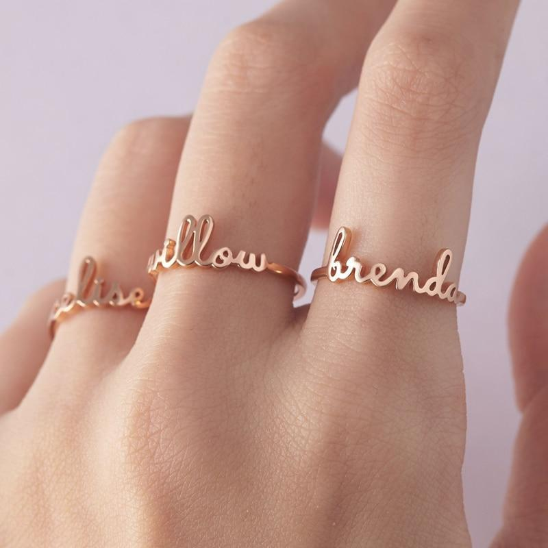 Custom Cursive Ring