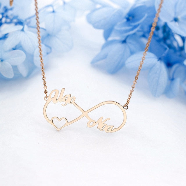 Custom Infinity Name Necklace