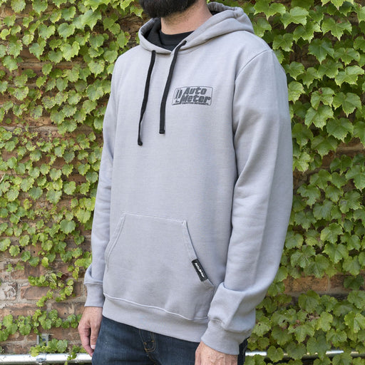 AutoMeter Pullover Hoodie, Competition, Gray, LRG