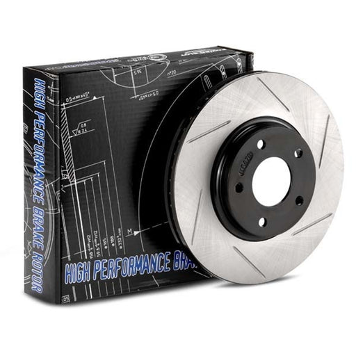 StopTech Power Slot Rear Rotors - 239mm - EF/EG/EK/DA/DC-Brake Rotors-Speed Science
