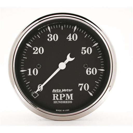"AutoMeter 3-1/8"" In-Dash Tachometer, 0-7,000 RPM, Old Tyme Black"