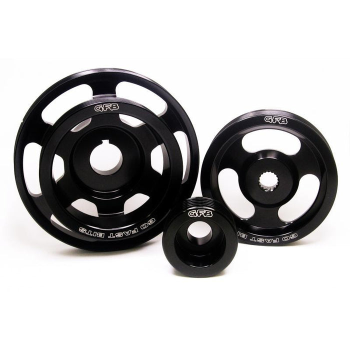 GFB 3-Piece Underdrive Pulley Kit - WRX/STi MY08-on, Liberty GT MY03-on, Forester XT MY09-on-Pulleys-Speed Science