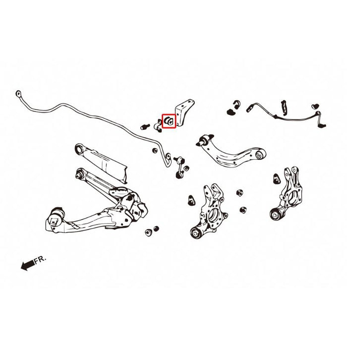 Hard Race Rear Sway Bar D Bushes - FD2 Type R-Swaybar Links & D Bushes-Speed Science