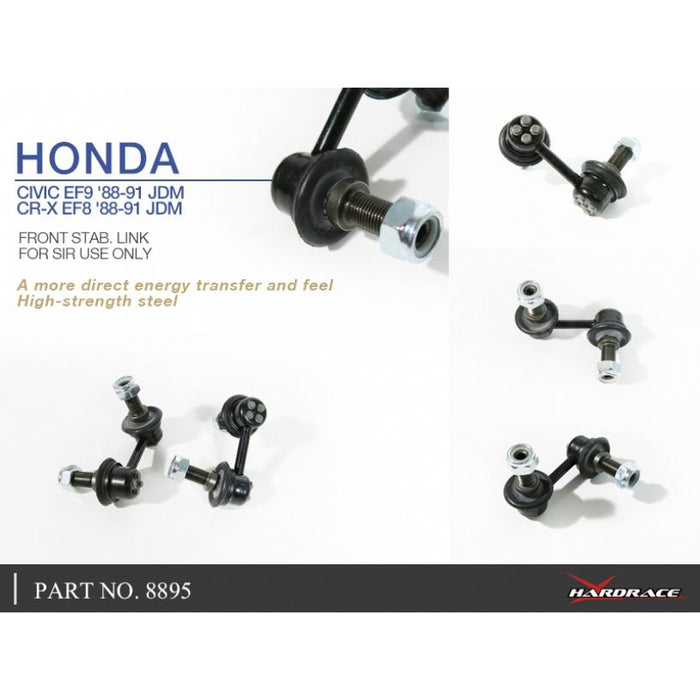 Hard Race Front Sway Bar End Links - EF8/9-Swaybar Links & D Bushes-Speed Science