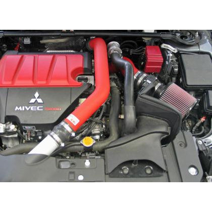 K&N Mitsubishi Evo X Wrinkle Red Typhoon Short Ram Intake