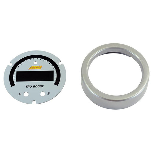 AEM X-Series Tru-BoostX Boost Controller Gauge Accessory Kit - Silver Bezel & White Faceplate