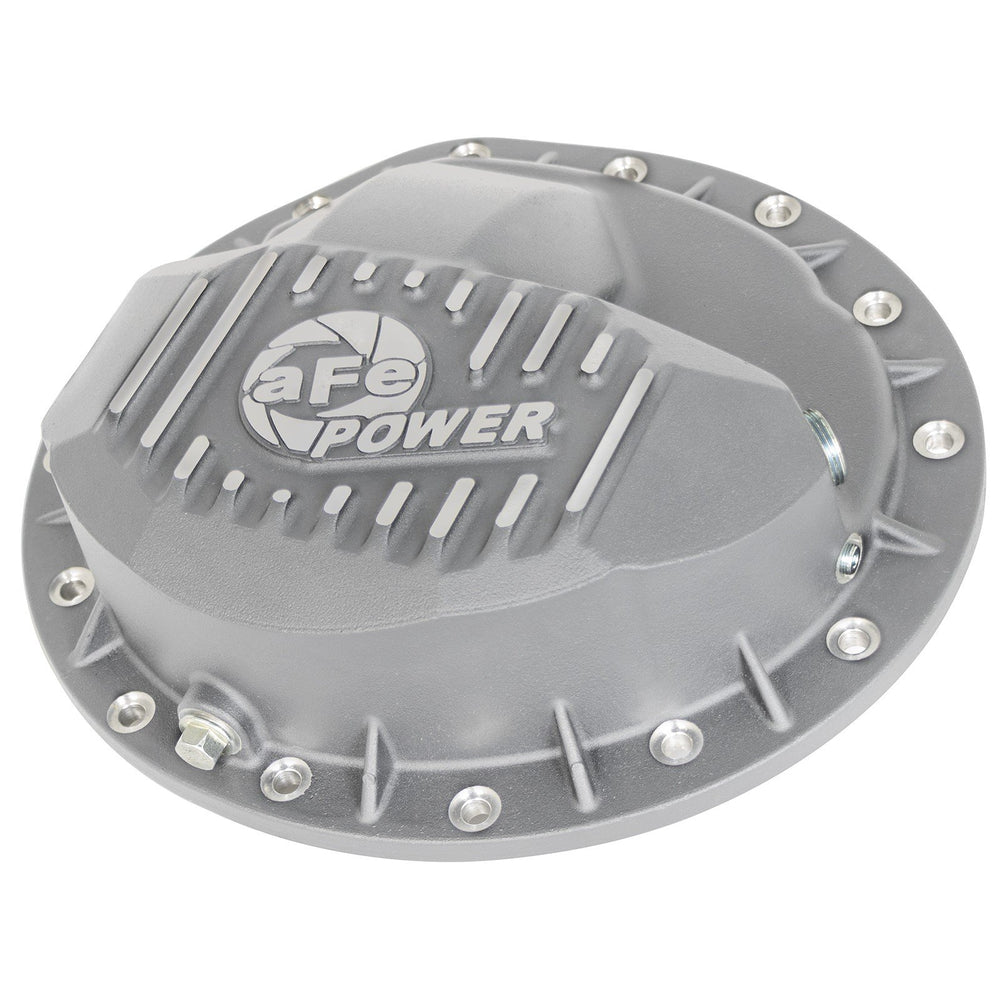 aFe Power Street Series Rear Differential Cover Raw w/ Machined Fins GM Trucks 99-13