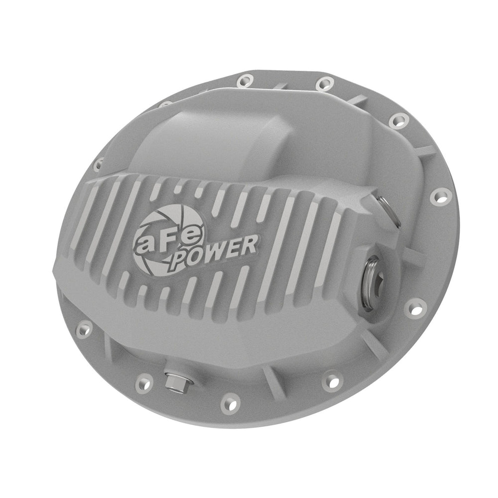 aFe Power Street Series Front Differential Cover Raw w/ Machined Fins Dodge Trucks 2500/3500 13-18