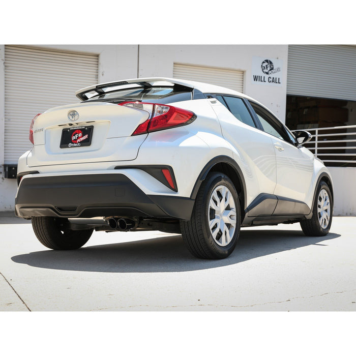 aFe Power Takeda 2 IN to 2-1/2 IN 304 Stainless Steel Cat-Back Exhaust System Toyota C-HR 18-20 L4-2.0L