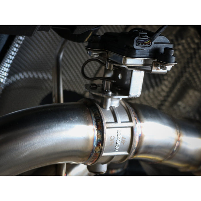 aFe Power Mach Force-XP 3 IN to 2-1/2 IN 304 Stainless Steel Axle-Back Exhaust BMW M235i (F22/23) 14-16 L6-3.0L (t) N55