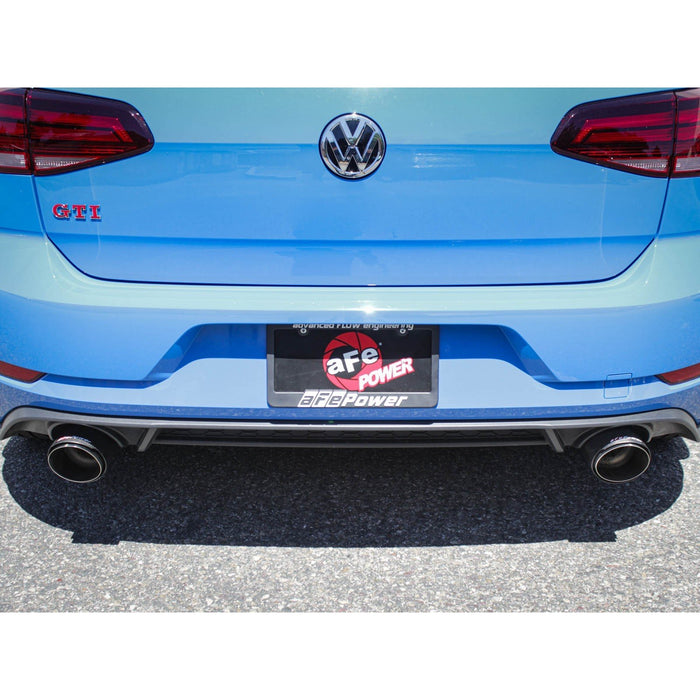 aFe Power Mach Force-Xp 3 IN to 2-1/2 IN Stainless Steel Axle-Back Exhaust System Volkswagen GTI (MK7.5) 18-19 L4-2.0L (t)