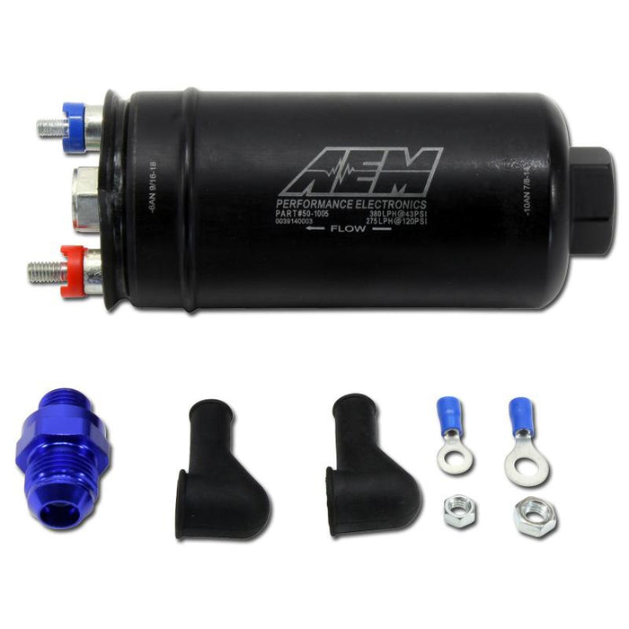 AEM 380LPH High Pressure External Fuel Pump - Ethanol Compatible-Fuel Pumps-Speed Science