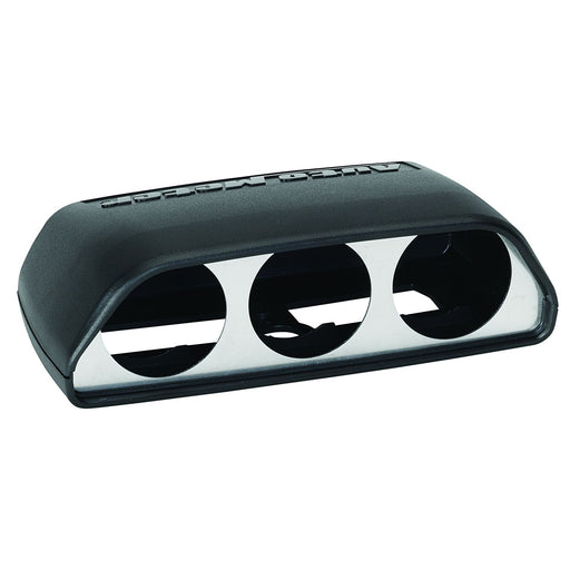AutoMeter 08-11 Dodge Challenger Black Triple Dash Pod