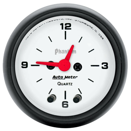 Autoeter Phantom 52mm 12V Electronic Clock Gauge