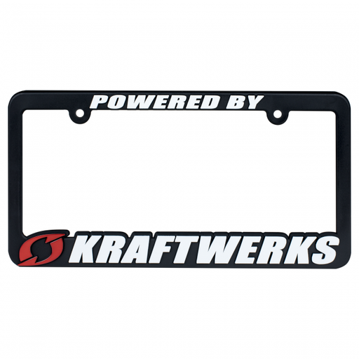 Kraftwerks License Plate Frame - Powered by Kraftwerks