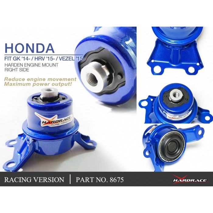 Hard Race Race Version Engine Mount (Right Side) Honda, Jazz/Fit, Hrv, 14-Present, Gk3/4/5/6
