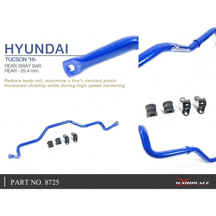 Hard Race Rear Sway Bar 25.4Mm Hyundai, Tucson, Tl 16-Present