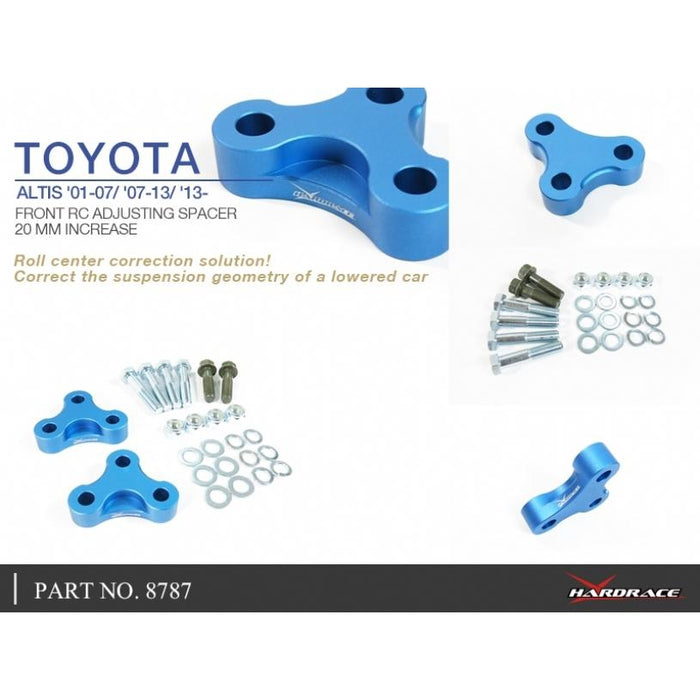 Hard Race Front Roll Center Adjustable Spacer (20Mm Increase) Toyota, Lexus, Celica, Corolla/Altis/Auris, Ct, Prius, Tc, Wish, E140/E15