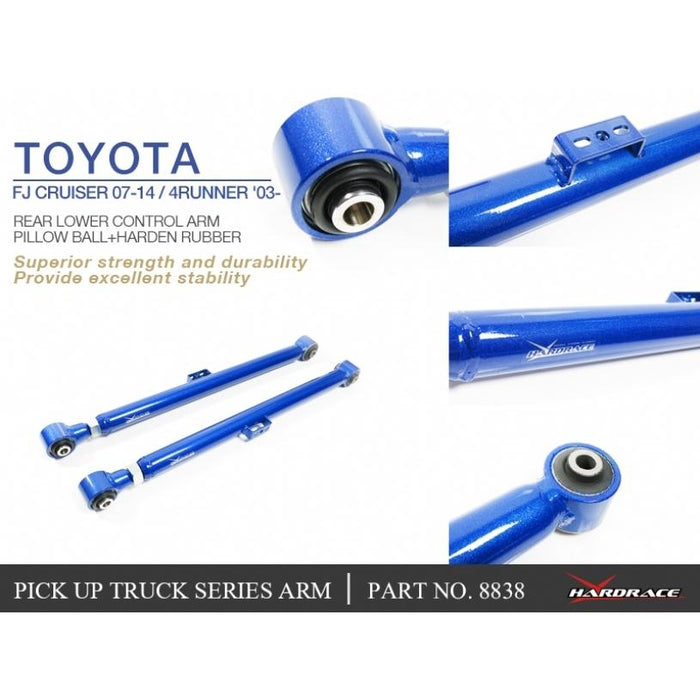 Hard Race Rear Lower Control Arm (Pillow Ball+Hardened Rubber) Toyota, Lexus, 4Runner, Fj Cruiser, Gx, Land Cruiser Prado, J120 03-09, 2