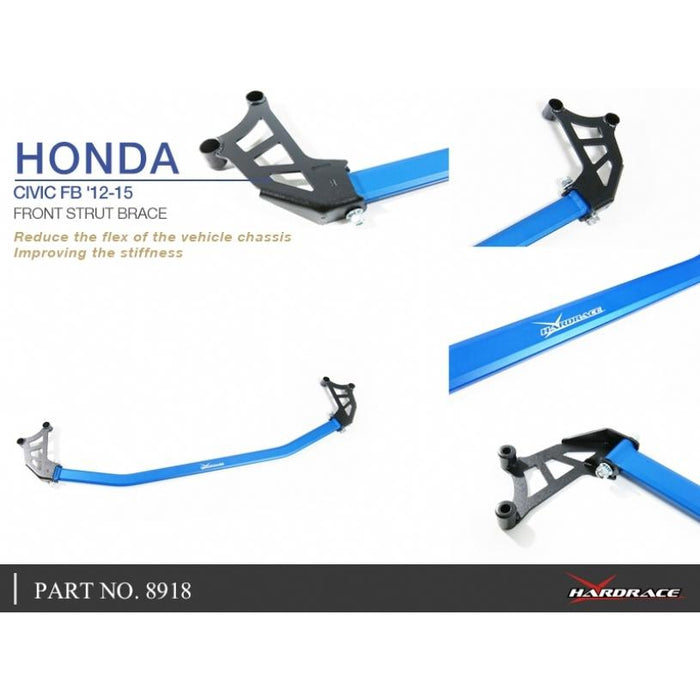 Hard Race Front Strut Bar Honda, Civic, Fg, Fb