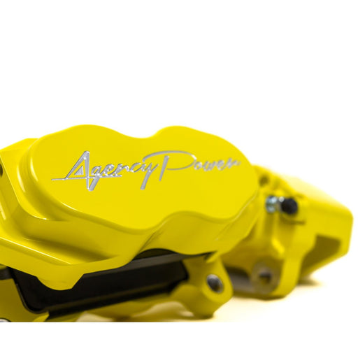 Agency Power 17-20 Can-Am Maverick X3 Big Brake Kit - Canary Yellow w/White Logo
