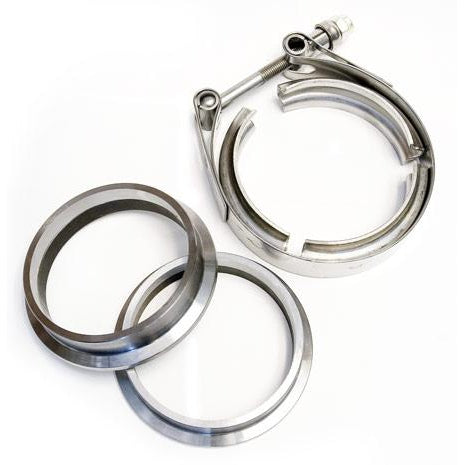 "ATP Turbo 2.75"" Stainless V-Band Flange and Clamp Set - Male/Female"