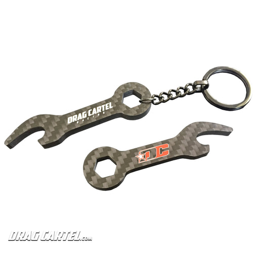 Drag Cartel Carbon Fiber Key Chain Wrench / Bottle Opener