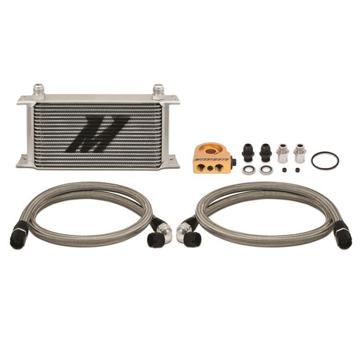 Mishimoto Universal Thermostatic Oil Cooler Kit - 19 Row-Oil Coolers & Cooler Kits-Speed Science