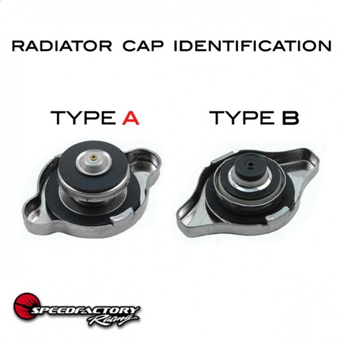 SpeedFactory High Pressure Black Radiator Cap - Type A-Radiator Caps-Speed Science