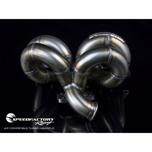 SpeedFactory Stainless Ramhorn Turbo Manifold - D/B Series (A/C Compatible)-Turbo Manifolds-Speed Science