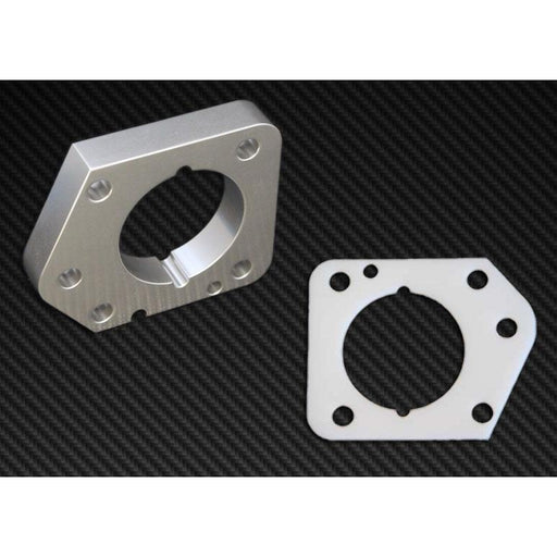 Torque Solution Throttle Body Spacer (Silver): Honda Civic LX,EX,DX R18 2006-2011