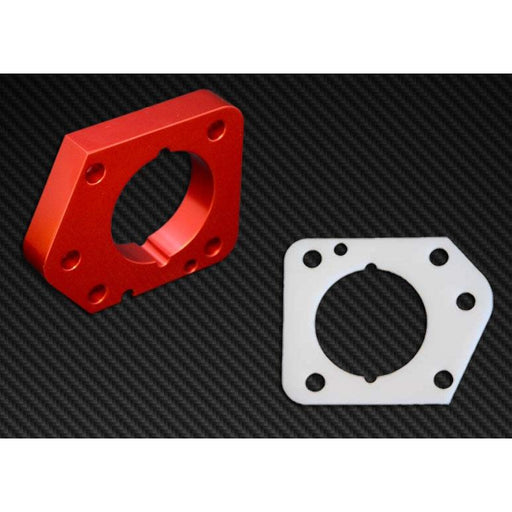 Torque Solution Throttle Body Spacer (Red): Honda Civic LX,EX,DX R18 2006-2011