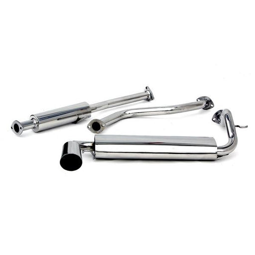 "Yonaka 2.25"" Stainless Catback Exhaust System - EF Civic 3dr-Exhaust Systems-Speed Science"