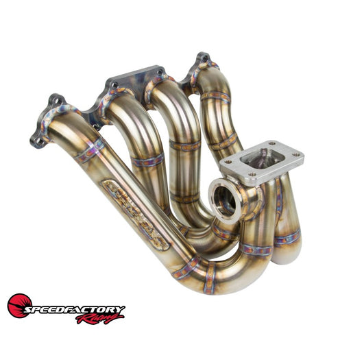 SpeedFactory Top Mount Stainless Turbo Manifold - D Series-Turbo Manifolds-Speed Science
