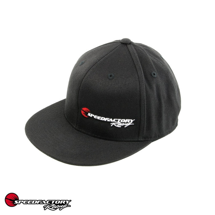 SpeedFactory Racing Logo Flex Fit Hat - Curved or Flat Bill