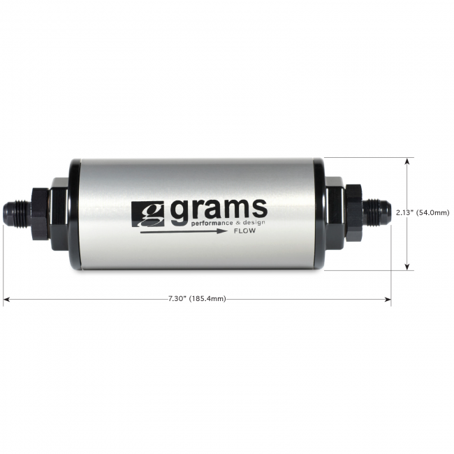 Grams Performance Fuel Filter - 20 Micron w/ -8 AN-Fuel Filters-Speed Science