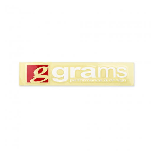 Grams Performance Logo Clear 20cm Decal