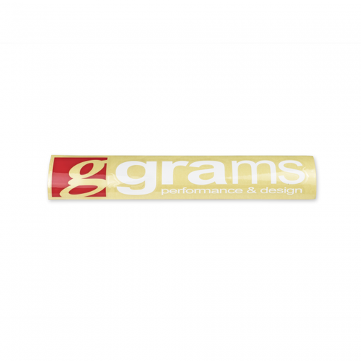 Grams Performance Logo Clear 450mm Decal