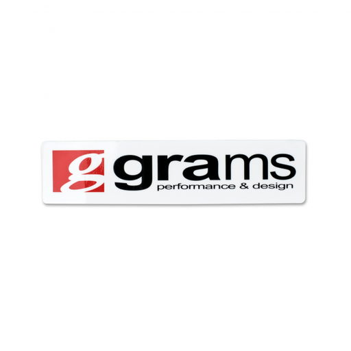 Grams Performance Logo White 10cm Decals
