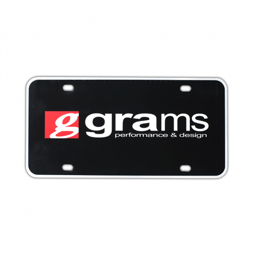 Grams Performance License Plate Insert