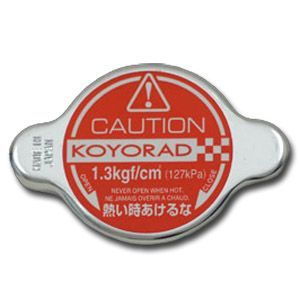 Koyo Hyper Cap, (Fits All Listed Koyo Radiators), 1.3 Bar, Red Racing Radiator Cap, (SK-C13)