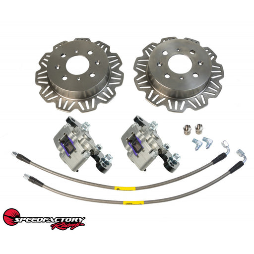 SpeedFactory Racing AWD / FWD Lightweight Rear Staging Brakes Kit