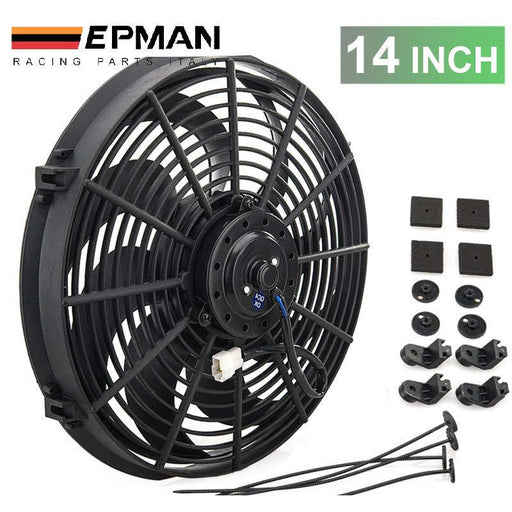 "EPMAN Slim Electric Radiator Fan - 14""-Radiator Fans-Speed Science"
